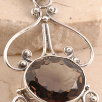 Exclusive Smoky Quartz Pendant in 925 Sterling Silver