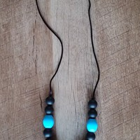 The Bruce Chunky Blue Teething/Nursing Necklace