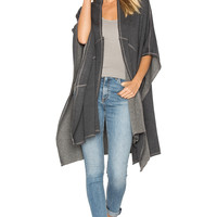 Nation LTD Flora Poncho in Charcoal | REVOLVE