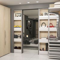 CUSTOM WALK-IN WARDROBE BIGFOOT® OPENSPACE LINEAR®WALK-IN CLOSET | PROTEK®