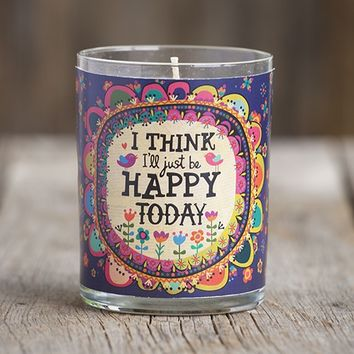 I'll  Just  Be  Happy  Natural  Life  Scented  Soy  Candle