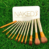 12 Piece Set NAKED3 Power Makeup Brushes