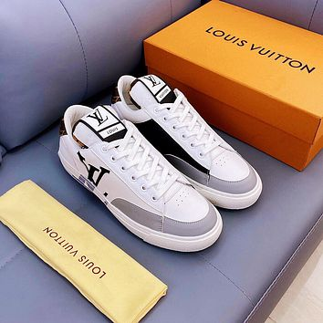 LV Louis Vuitton Men's And Women's 2021 NEW ARRIVALS Charlie Low Top Sneakers Shoes