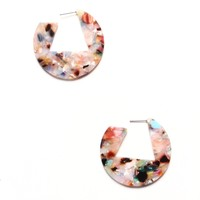 Acrylic Open Hoop Earrings