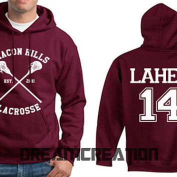 LAHEY 14 Beacon Hills Lacrosse Wolf 14 Number  Teen Unisex Hoodie - Tumblr Text - Part 1