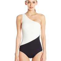 Vince Camuto Women's Bal Harbour Shoulder One-Piece Swimsuit