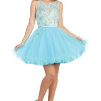 Short Lace and Tulle Homecoming Dress