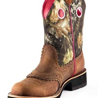Ariat Women's Fatbaby Cowgirl Boot - Distressed Brown/Mossy Oak