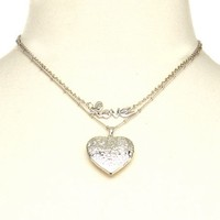 Heart Locket Layered Necklace: Charlotte Russe