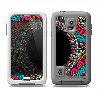 The Vector Colored Aztec Pattern WIth Black Connect Point Samsung Galaxy S5 LifeProof Fre Case Skin Set