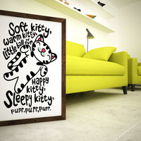 Soft kitty warm kitty little ball of fur Print -  8x10 Typography Print