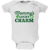 Mommy's Lucky Charm White Soft Baby One Piece