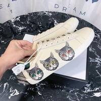 Gucci Ace Sneaker With Mystic - Best Online Sale