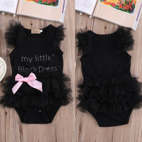 Toddler Baby Girls Clothes Lace Tulle Bodysuit Romper Jumpsuit Outfits Costume