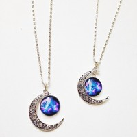 Moon Pendant Necklace from Now and Again Co.