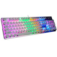 PC notebook retro steampunk mechanical keyboard computer professional esports game player keyboard backlight computer keyboard