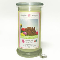 Some Bunny Loves You! Jewelry Greeting Candles