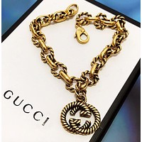 GUCCI Fashion New Letter Chain Bracelet Accessories Golden