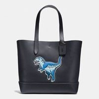 Gotham Tote in Glove Calf Leather With Rexy