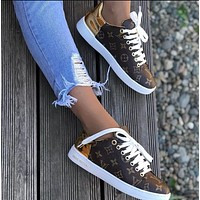 Hipgirls Louis Vuitton LV Fashion New Monogram Print Leisure Sports Women Shoes