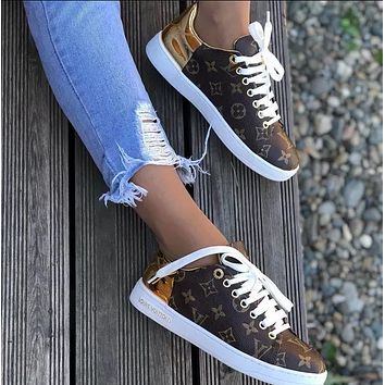 Louis Vuitton LV Fashion New Monogram Print Leisure Sports Women Shoes