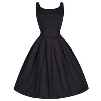 Audrey Hepburn M-5XL Plus Size Women Summer Black Retro Casual Party Robe Rockabilly 50s Vintage Dresses [9221897156]