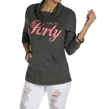 Sale-charcoal Time To Party Sweatshirt