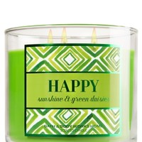3-Wick Candle Happy - Sunshine & Green Daisies