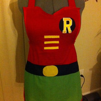 Robin inspired apron - Featured on Geeks are Sexy, Fahionably Geek, and So Geek Chic
