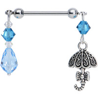 Handcrafted April Showers Nipple Ring MADE WITH SWAROVSKI ELEMENTS | Body Candy Body Jewelry