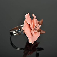 Beautiful designer's Ring Made of Polymer Clay handmade adornment for women