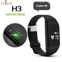 New IP69 Waterproof Heart Rate Smartband H3 Fitness Sleep Tracker Passometer IOS Android Smart Watch Bracelet JS-YLS0005