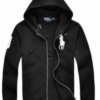 NEW RALPH LAUREN MEN'S POLO HOODIE FLEECES JACKET COAT