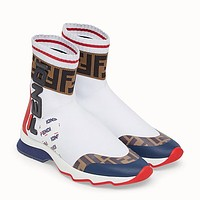 FENDI Woman Men Fashion Socks Boots Sneakers Sport Shoes