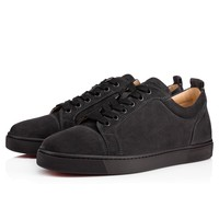 Christian Louboutin Cl Louis Junior Men's Flat Charbon Suede 13s Shoes 3170052i132 - Best Online Sale