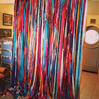 Handmade Boho Room Divider Wall Decor Bohemian Chic Curtain - Free Shipping