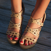 CHINESE LAUNDRY Mackenzie Nude Cutout Wedges