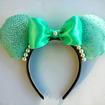 Green Minnie Mouse Ears