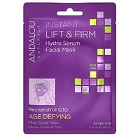 Andalou Naturals Sheet Mask, Instant Lift & Firm - Pack of 6