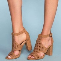 Belfor Block Heel Sandals - Tan