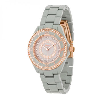 Crystal Fashion Watch - Grey