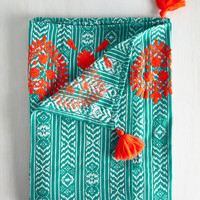 Boho A Pop of Cover Blanket by Karma Living from ModCloth