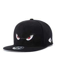 Sports Hat Cap trendy  Wuke Angry Eyes Embroidery Sports Outdoors Hip Hop Cap Casquette Fashion Baseball Gorras for Men Women Fitted Snapback Hat 2018 KO_16_1
