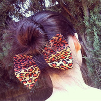 Leopard Print Hair Bow