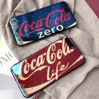 Coca Cola:print phone shell phone case for Iphone 6/6S/6P/6SP/7P/7/8/8P/X