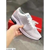 Nike Air Zoom Mariah Flyknit Race Fashion Women Men Air Cushion Sport Running Shoes Sneakers Light Grey