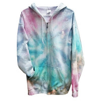 SALE Rainbow Galaxy Tie Dye Sweatshirt Hoodie Womens Mens Girls Boys Gift For Him Gift For Her Tumblr Gym Clothes Fall Hooded Sweater Fleece