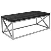 Park Ridge Coffee Table with Silver Finish Frame