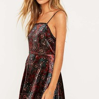Pins & Needles Lulu Purple Fit and Flare Dress - Urban Outfitters