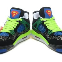 Air Jordan 4 IV Authentic Retro Db Doernbecher Green/ Yellow  Basketball Sneakers